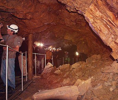 Am Silbersee in Hasbergen können Besucher einen Wattspaziergang unter Tage und verbunden mit einer Zeitreise durch 240 Millionen Jahre machen.